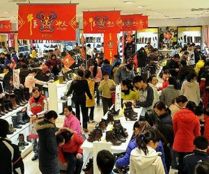 Shoe Shoppers in Beijing